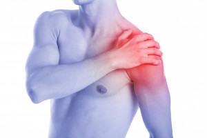 Man has shoulder contussion and pain