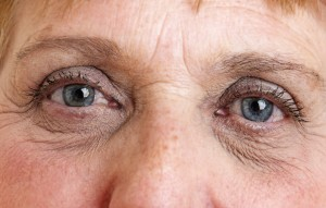 old eyes close up