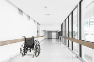A wheelchair at hospital corridor, Fibromyalgia diagnosis