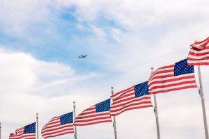 american flags, social security